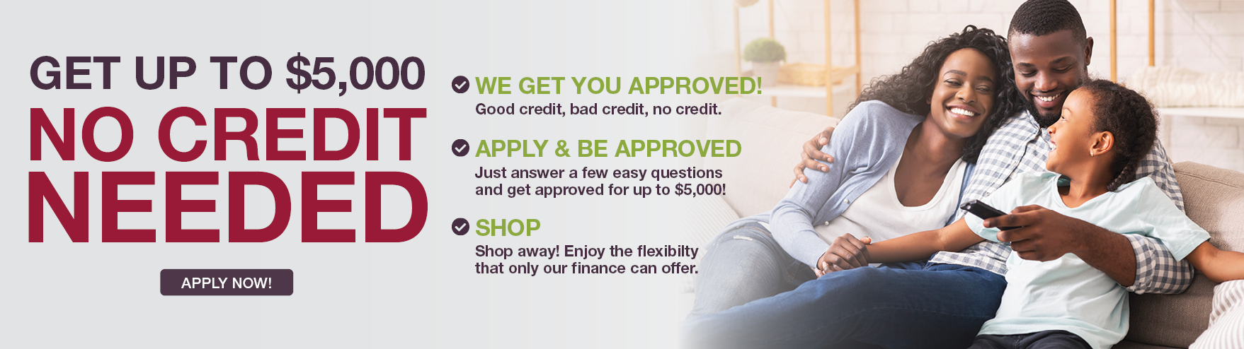 Get started with our pre-approvial now